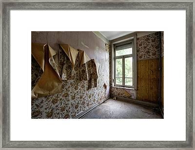 Weeping Wallpaper - Abandoned Buildings Framed Print by Dirk Ercken