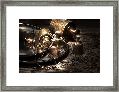 Weights And Measures Framed Print by Tom Mc Nemar