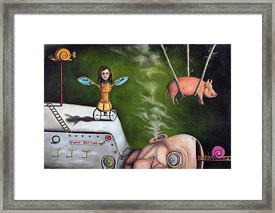 Weird Science-the Robot Factory Framed Print by Leah Saulnier The Painting Maniac