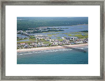 Welcome Aboard Surf City Topsail Island Framed Print by Betsy C Knapp