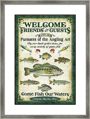 Welcome Friends Sign Framed Print by JQ Licensing