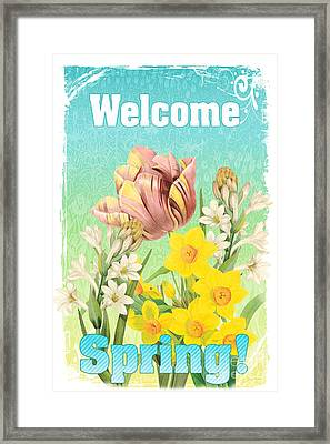 Welcome Spring Flowers-jp2775 Framed Print by Jean Plout