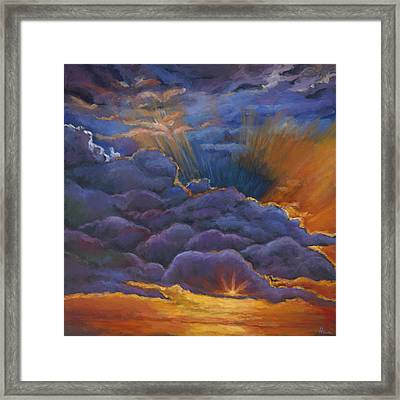 Welcome The Night Framed Print by Johnathan Harris