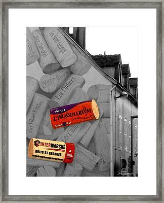 Welcome To Bordeaux Framed Print by Joan  Minchak