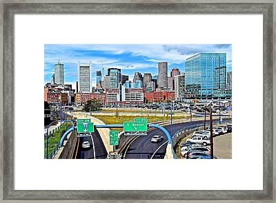 Welcome To Boston Framed Print by Frozen in Time Fine Art Photography