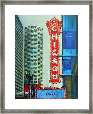Welcome To Chicago Framed Print by Michael Durst