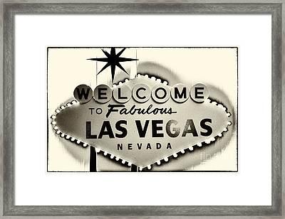 Welcome To Fabulous Las Vegas Nevada Framed Print by Leslie Leda