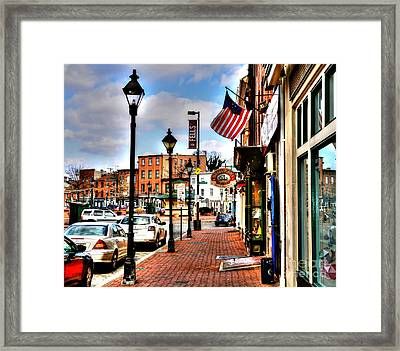 Welcome To Fells Point Framed Print by Debbi Granruth