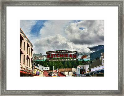 Welcome To Ketchikan Framed Print by Mel Steinhauer