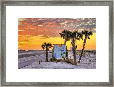 Welcome To Pensacola Beach And Its Gorgeous Sunsets Framed Print by JC Findley