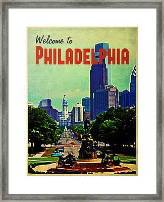 Welcome To Philadelphia Framed Print by Flo Karp