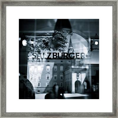 Welcome To Salzburg Framed Print by Dave Bowman