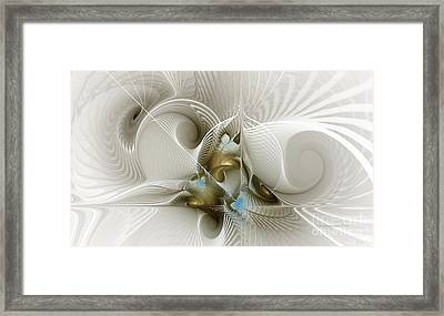 Welcome To The Second Floor-fractal Art Framed Print by Karin Kuhlmann