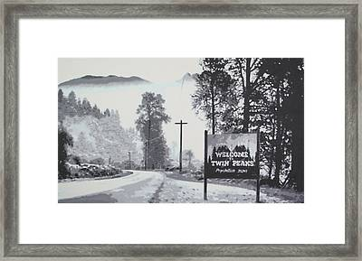 Welcome To Twin Peaks Framed Print by Ludzska