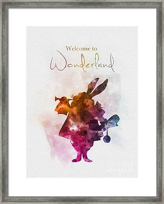 Welcome To Wonderland Framed Print by Rebecca Jenkins