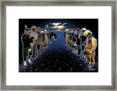 Welcoming The Fallen Framed Print by Rose Borisow
