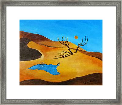 Desert Blues Framed Print by Daniel Xiao
