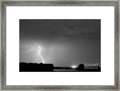 Weld County Looking East From County Line Co Bw Framed Print by James BO  Insogna