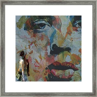 Well Love Me Love Me Don't Fade Away  Framed Print by Paul Lovering