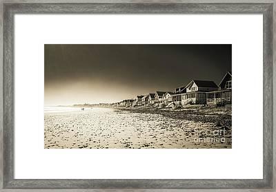 Wells Beach Maine Inrared Framed Print by Edward Fielding