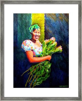 Wendy The Flower Seller Framed Print by Michael Durst
