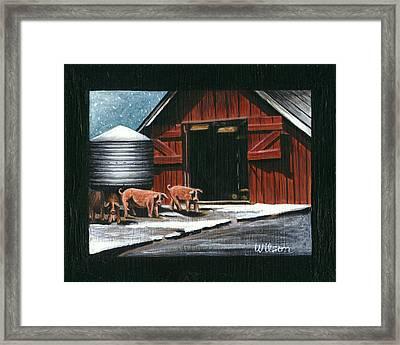 Wenger Barn Framed Print by Carol Wilson