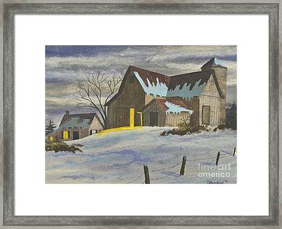 We're Home On The Farm Framed Print by Charlotte Blanchard
