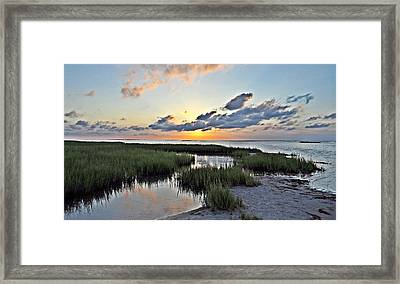 West Bay Sunset Framed Print by John Collins