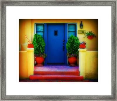 West Coast Door Framed Print by Perry Webster