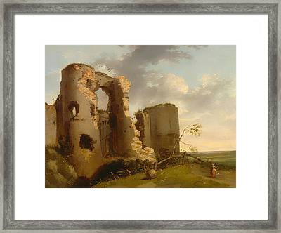 West Gate Of Pevensey Castle - Sussex Framed Print by Mountain Dreams