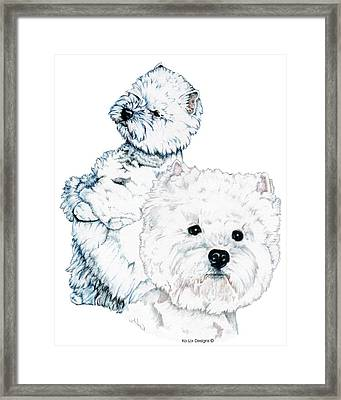 West Highland White Terriers Framed Print by Kathleen Sepulveda