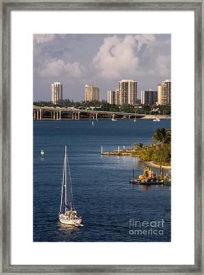 West Palm Beach Skyline 2 Framed Print by Zina Stromberg