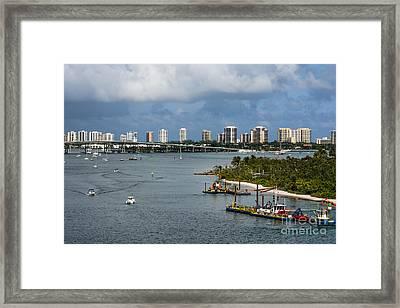 West Palm Beach Skyline Framed Print by Zina Stromberg