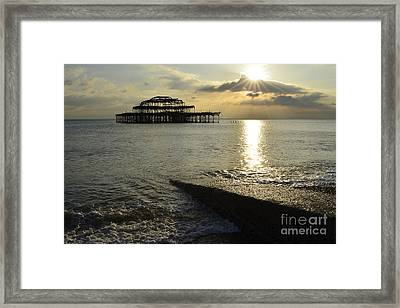 West Pier Brighton Framed Print by Stephen Smith