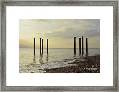 West Pier Supports Framed Print by Stephen Smith