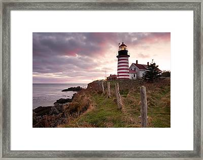 West Quoddy Head Light Framed Print by Patrick Downey