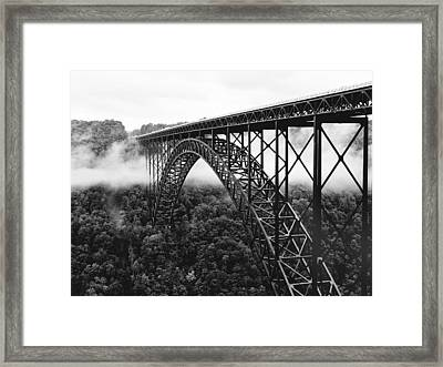 West Virginia - New River Gorge Bridge Framed Print by Brendan Reals