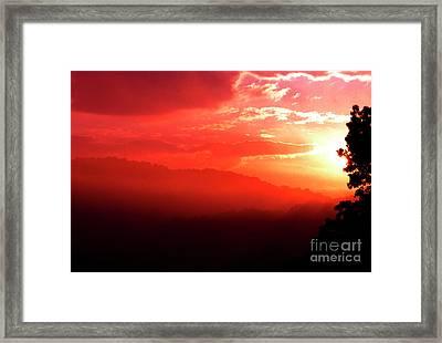 West Virginia Sunrise Framed Print by Thomas R Fletcher