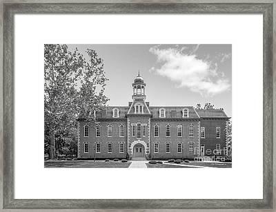 West Viriginia University Martin Hall Framed Print by University Icons