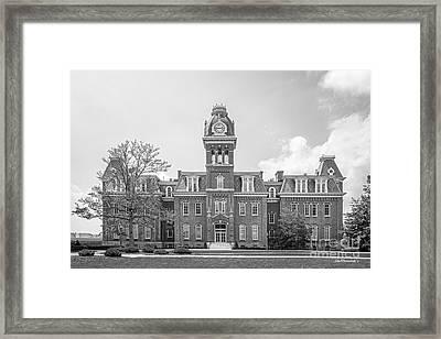 West Viriginia University Woodburn Hall Framed Print by University Icons