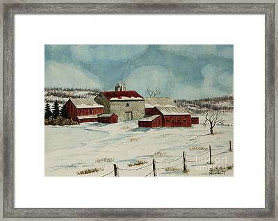 West Winfield Farm Framed Print by Charlotte Blanchard
