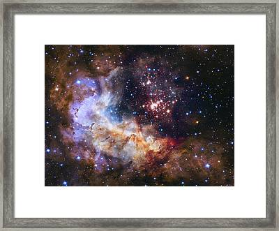 Westerlund 2 - Hubble 25th Anniversary Image Framed Print by Adam Romanowicz