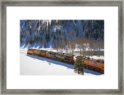 Western And Southern Framed Print by Donna Kennedy