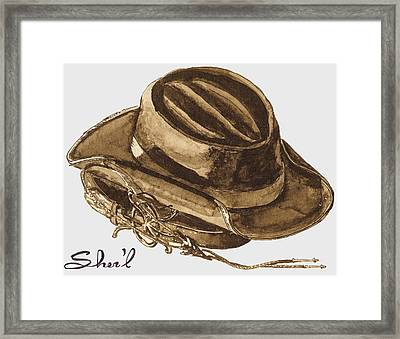 Western Apparel Framed Print by Sher'l