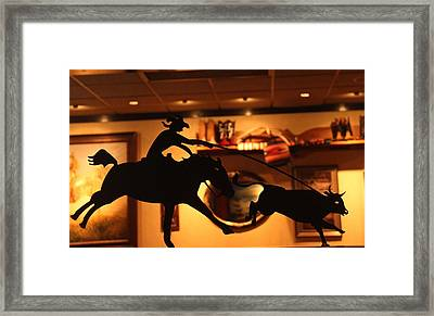 Western Art Framed Print by Denise Mazzocco