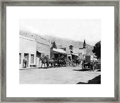 Western Film Still Framed Print by Underwood Archives