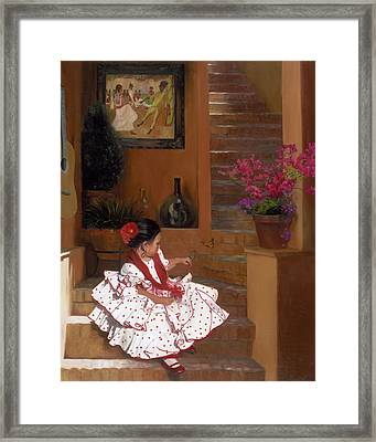 Western Grace Of Good Cheer    Mexico    From The Three Graces Of The West Framed Print by Anna Rose Bain