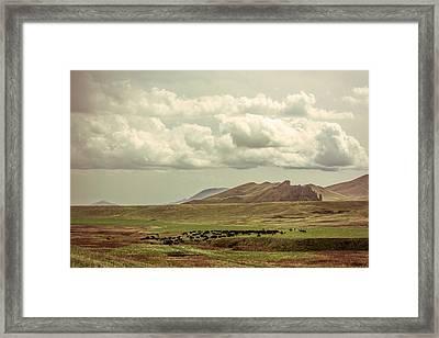 Western Storm Framed Print by Todd Klassy