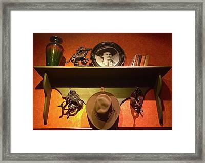 Western Tableau Framed Print by Denise Mazzocco