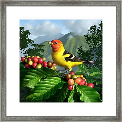 Western Tanager Framed Print by Jerry LoFaro